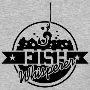 Fish whisperer (2c) grey T-Shirt - Baseball T-Shirt