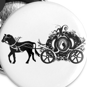 Cinderella in the Pumpkin Carriage Buttons - Small Buttons
