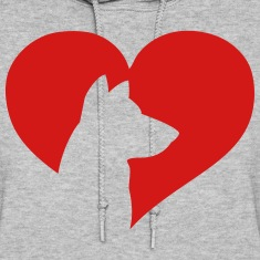 Dog Heart  Hoodies