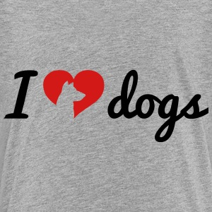 Fancy I Love Dogs T-shirts Enfant - T-shirt premium pour ados
