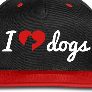 Fancy I Love Dogs Caps - Snap-back Baseball Cap