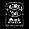 California Born & Raised (vintage distressed look) - Men's Premium T-Shirt