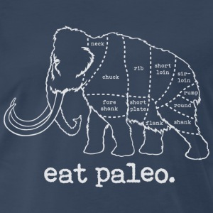 Woolly Mammoth Paleo Diet Butcher Cut T-Shirt Whit - Men's Premium T-Shirt
