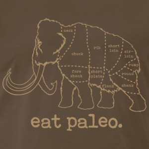 Woolly Mammoth Paleo Diet Butcher Cut T-Shirt Tan - Men's Premium T-Shirt