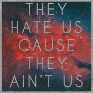 Hate Us Ain't Us (Red) T-Shirts - Men's Premium T-Shirt