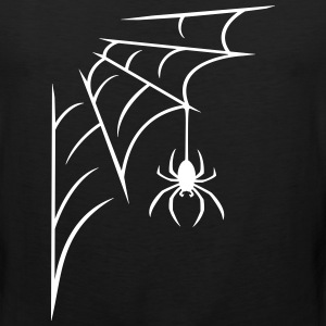 Spider with web Tank Tops - Men's Premium Tank