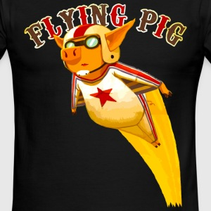 flying pig T-Shirts - Men's Ringer T-Shirt