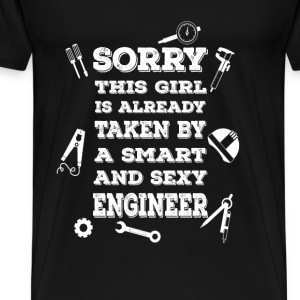 Engineer T-shirt - Girl, taken by an engineer - Men's Premium T-Shirt