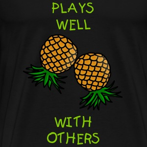 Swinger Pineapples - Men's Premium T-Shirt