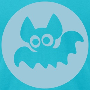 Cute Cartoon Moon Bat by Cheerful Madness!! T-Shirts - Men's T-Shirt by American Apparel