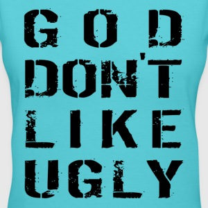 God Don't Like Ugly Women's T-Shirts - Women's V-Neck T-Shirt
