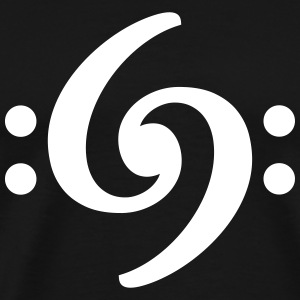 Bass Clef 69 T-Shirt (Men) White - Men's Premium T-Shirt