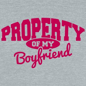 Property of my Boyfriend T-Shirts - Unisex Tri-Blend T-Shirt by American Apparel