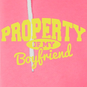 Property of my Boyfriend Zip Hoodies & Jackets - Unisex Fleece Zip Hoodie by American Apparel