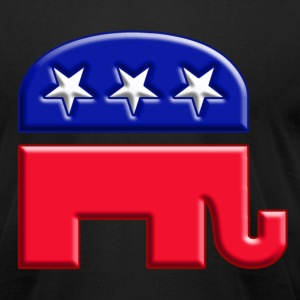 GOP elephant logo for republican - Men's T-Shirt by American Apparel