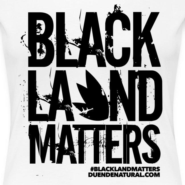 Duende #BlackLandMatters Ladies-Black