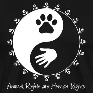 Animal Rights Yin-Yang - Men's Premium T-Shirt