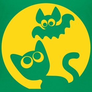Cute Cartoon Cat And Bat by Cheerful Madness!! Kids' Shirts - Kids' Premium T-Shirt