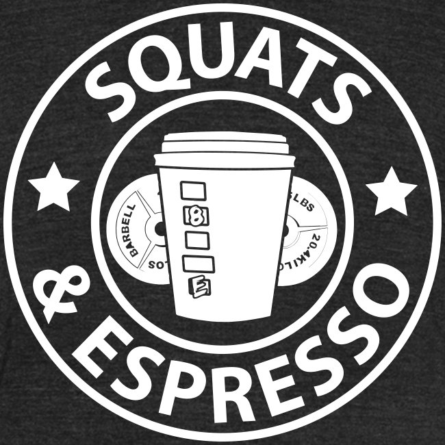 Squats and Espresso Logo Tri-Blend Tee Unisex