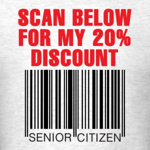 Senior Citizen Discount - Men's T-Shirt