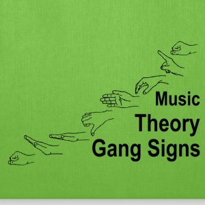 Music Theory Gang Signs (black) Bags & backpacks - Tote Bag