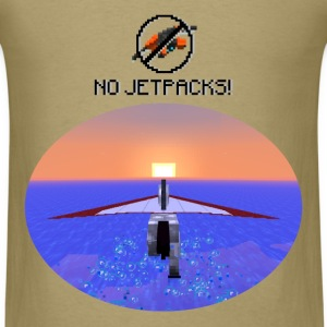 No Jetpacks!  Hang Gliding Horse  Mens Natural T - Men's T-Shirt