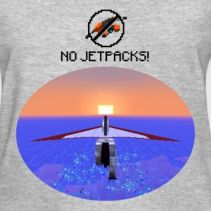 No Jetpacks!  Hang Gliding Horse  Womens Heather T - Women's T-Shirt