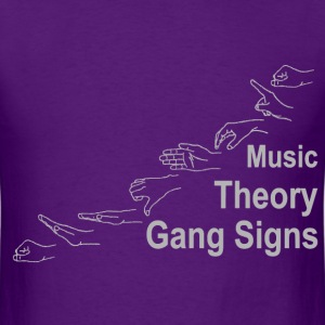 Music Theory Gang Signs (grey) T-Shirts - Men's T-Shirt
