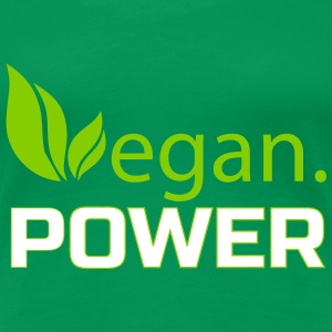 vegan power Women's T-Shirts - Women's Premium T-Shirt