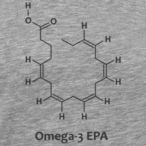 Omega-3 Molecule Chemical Structure T-Shirt - Men's Premium T-Shirt