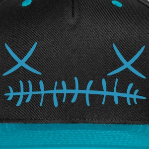 Cross stitch Face Cap (Blue) - Snap-back Baseball Cap