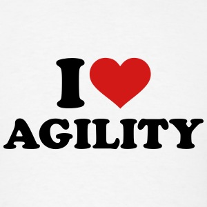 I love Agility T-Shirts - Men's T-Shirt