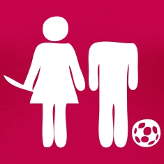 Soccer: Woman vs Man Women's T-Shirts