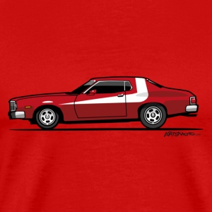 Gran Torino Striped Tomato Red Undercover Cop Car T-Shirts - Men's Premium T-Shirt