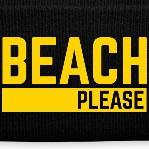 Beach Please  Caps - Knit Cap with Cuff Print