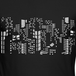 City skyline buildings - Men's Long Sleeve T-Shirt by Next Level