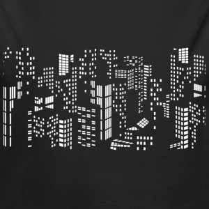City skyline buildings - Long Sleeve Baby Bodysuit