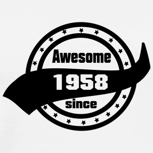 awesome_since_1958 T-Shirts - Men's Premium T-Shirt