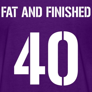 40, fat and finished jersey letter - Women's T-Shirt