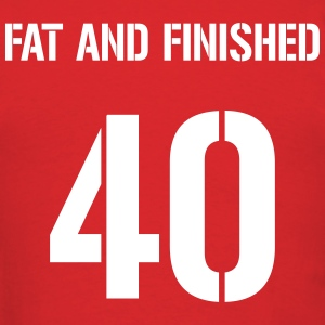 40, fat and finished jersey letter - Men's T-Shirt