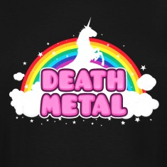 DEATH METAL! (Funny Unicorn / Rainbow Mosh Parody T-Shirts