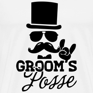 Groom's Posse T-Shirts - Men's Premium T-Shirt