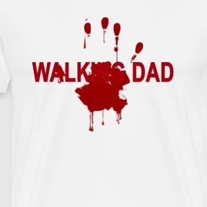 the_walking_dad_on_dark_fathers_day_zombie - Men's Premium T-Shirt