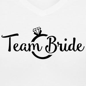 Team Bride - Women's V-Neck T-Shirt