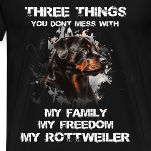 Rottweiler T-shirt - Don't mess with my rottweiler - Men's Premium T-Shirt