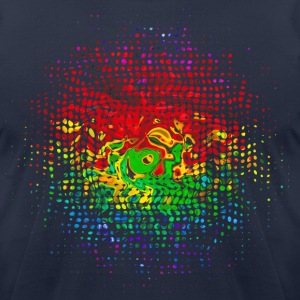 Color Dots, Party, Festival, Splash, Retro, Swirl, T-Shirts - Men's T-Shirt by American Apparel