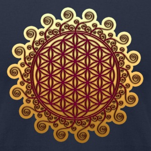 FLOWER OF LIFE, SPIRITUAL, SACRED GEOMETRY, YOGA T-Shirts - Men's T-Shirt by American Apparel