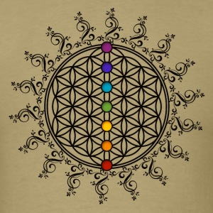 FLOWER OF LIFE, CHAKRAS, SPIRITUALITY, YOGA, ZEN T-Shirts - Men's T-Shirt