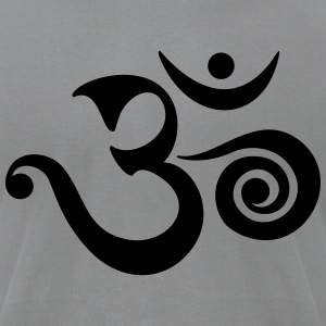 OM, AUM, BUDDHISM, SPIRITUALITY, MANTRA, YOGA, ZEN T-Shirts - Men's T-Shirt by American Apparel