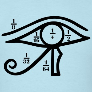 Eye of Horus, Heqat, Fractional Numbers, Egypt T-Shirts - Men's T-Shirt